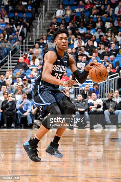 Wesley Iwundu of the Orlando Magic handles the ball against the Miami Heat on December 30 2017 at Amway Center in Orlando Florida NOTE TO USER User...