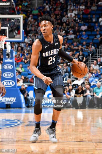 Wesley Iwundu of the Orlando Magic handles the ball against the New Orleans Pelicans on December 22 2017 at Amway Center in Orlando Florida Or NOTE...