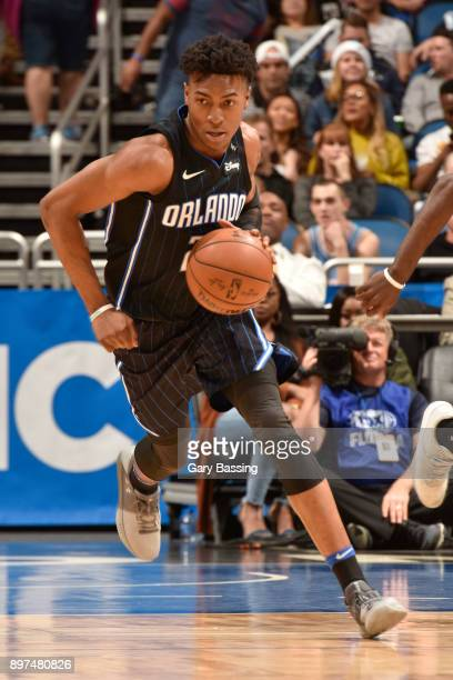 Wesley Iwundu of the Orlando Magic handles the ball against the New Orleans Pelicans on December 22 2017 at the Amway Center in Orlando Florida NOTE...