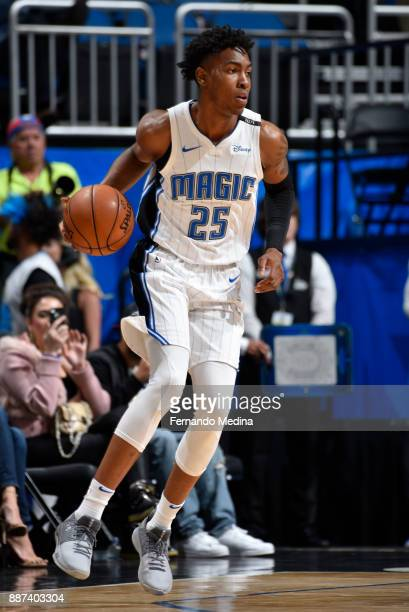 Wesley Iwundu of the Orlando Magic handles the ball against the Atlanta Hawks on December 6 2017 at Amway Center in Orlando Florida NOTE TO USER User...