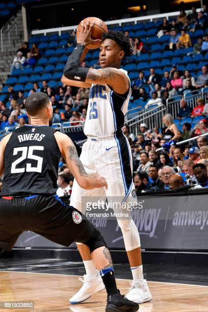 Wesley Iwundu of the Orlando Magic handles the ball against the LA Clippers on December 13 2017 at Amway Center in Orlando Florida NOTE TO USER User...