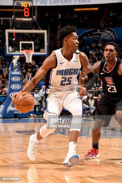 Wesley Iwundu of the Orlando Magic handles the ball against the LA Clippers on December 13 2017 at the Amway Center in Orlando Florida NOTE TO USER...