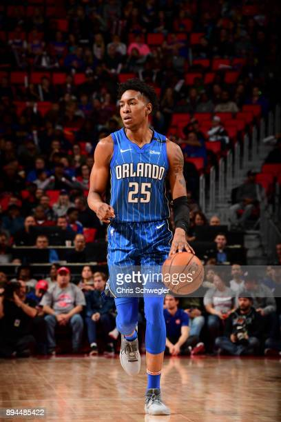 Wesley Iwundu of the Orlando Magic handles the ball against the Detroit Pistons on December 17 2017 at Little Caesars Arena in Detroit Michigan NOTE...
