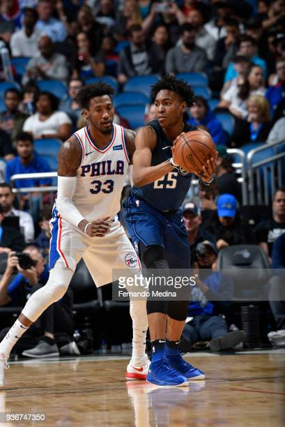 Wesley Iwundu of the Orlando Magic handles the ball against the Philadelphia 76ers on March 22 2018 at Amway Center in Orlando Florida NOTE TO USER...