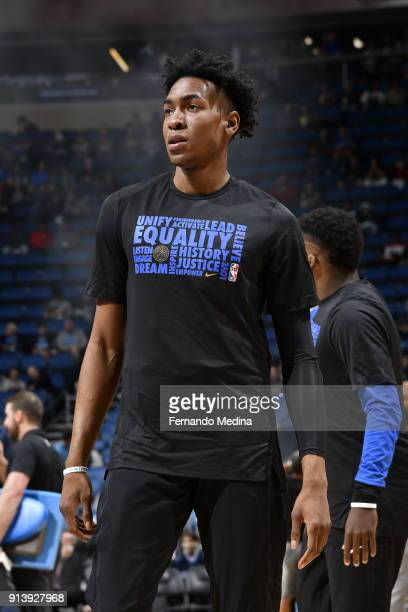 Wesley Iwundu of the Orlando Magic is seen during warmups before the game against the Washington Wizards on February 3 2018 at Amway Center in...