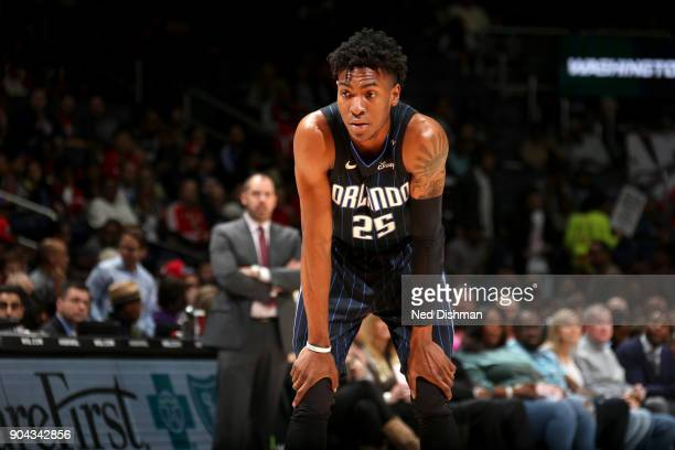 Wesley Iwundu of the Orlando Magic looks on during the game against the Washington Wizards on January 12 2018 at Capital One Arena in Washington DC...