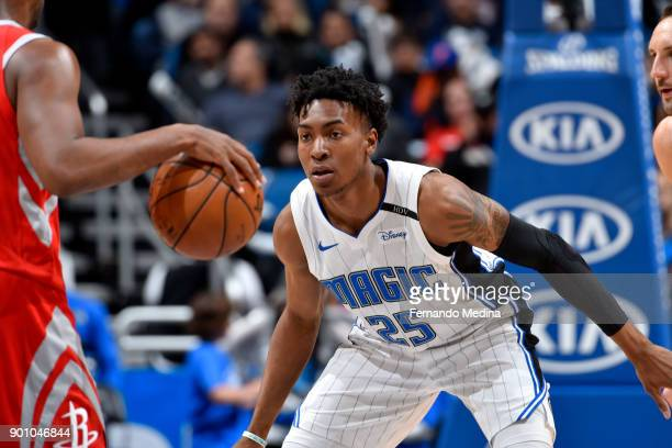 Wesley Iwundu of the Orlando Magic on the defense against the Houston Rockets on January 3 2018 at the Amway Center in Orlando Florida NOTE TO USER...