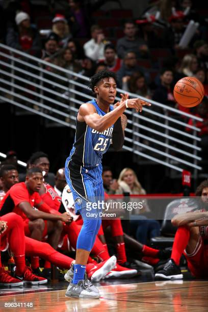 Wesley Iwundu of the Orlando Magic passes the ball against the Chicago Bulls on December 20 2017 at the United Center in Chicago Illinois NOTE TO...