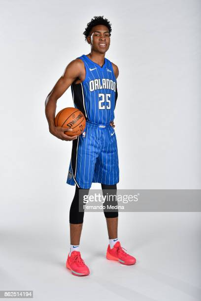 Wesley Iwundu of the Orlando Magic poses for a portrait during Magic Media Day 2 on October 6 2017 at Amway Center in Orlando Florida NOTE TO USER...