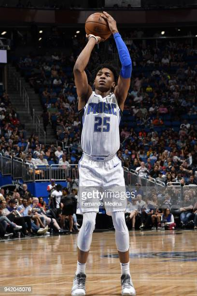 Wesley Iwundu of the Orlando Magic shoots a free throw during the game against the Dallas Mavericks on April 4 2018 at Amway Center in Orlando...