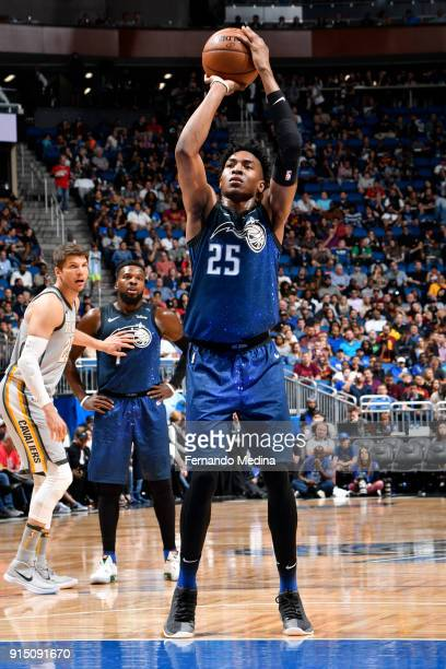 Wesley Iwundu of the Orlando Magic shoots the ball against the Cleveland Cavaliers on February 6 2018 at Amway Center in Orlando Florida NOTE TO USER...