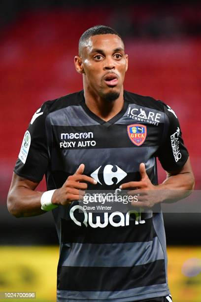 Wesley Jobello of Gazelec Ajaccio during the French Ligue 2 match between Valenciennes and Gazelec Ajaccio at Stade du Hainaut on August 27 2018 in...