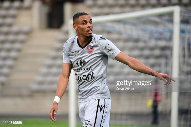Wesley Jobello of Gazelec Ajaccio during the Ligue 2 match between Paris FC and Gazelec Ajaccio at Stade Charlety on May 17 2019 in Paris France