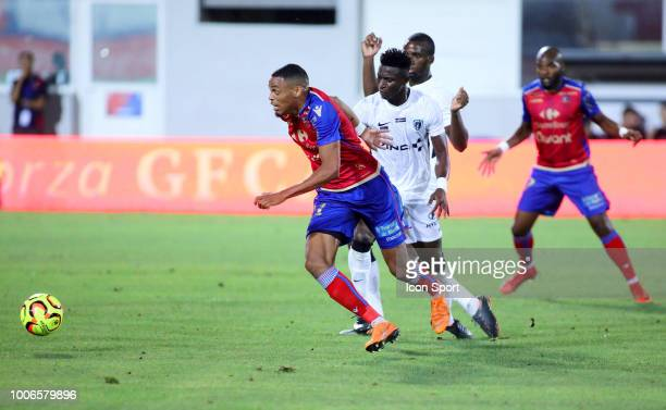 Wesley Jobello of Gazelec during the Ligue 2 match between Gazelec Ajaccio and Paris FC at Stade Ange Casanova on July 27 2018 in Ajaccio France