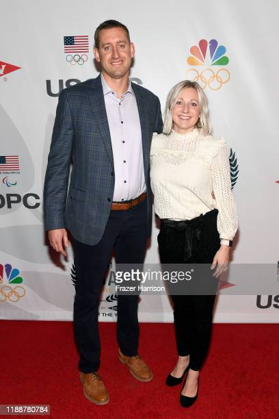 Wesley Johnson and Jen Johnson attend the 2019 Team USA Awards at Universal Studios Hollywood on November 19 2019 in Universal City California