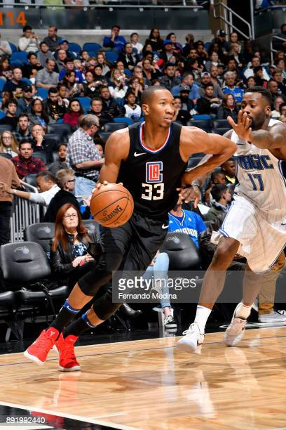 Wesley Johnson of the LA Clippers handles the ball against the Orlando Magic on December 13 2017 at Amway Center in Orlando Florida NOTE TO USER User...