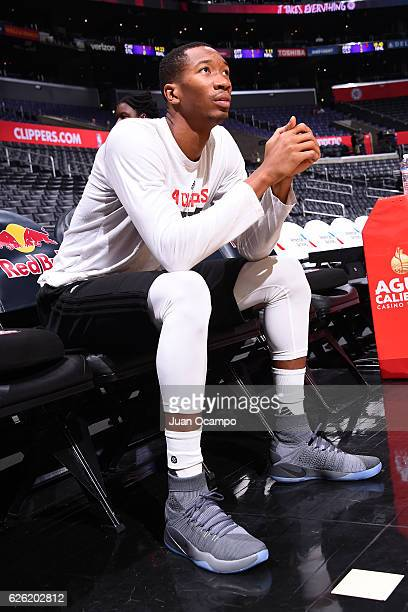 Wesley Johnson of the LA Clippers looks on before the game against the Portland Trail Blazers on November 09 2016 at STAPLES Center in Los Angeles...