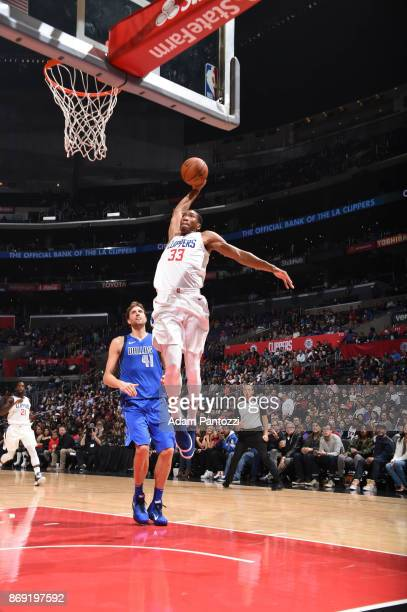 Wesley Johnson of the LA Clippers shoots the ball against the Dallas Mavericks on November 1 2017 at STAPLES Center in Los Angeles California NOTE TO...