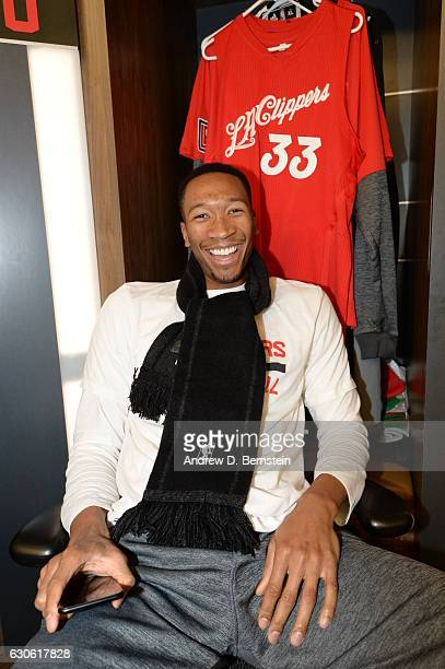 Wesley Johnson of the LA Clippers smiles for a photo before the game against the Los Angeles Lakers on December 25 2016 at STAPLES Center in Los...