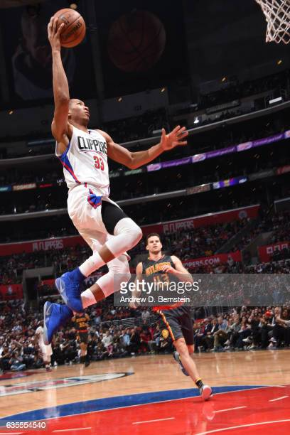Wesley Johnson of the Los Angeles Clippers goes to the basket against the Atlanta Hawks on February 15 2017 at STAPLES Center in Los Angeles...