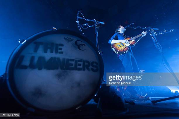 Wesley Keith Schultz of The Lumineers performs on stage at Barrowlands Ballroom on April 15, 2016 in Glasgow, Scotland.