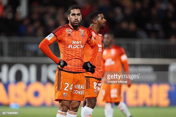Wesley Lautoa of Lorient during the Ligue 1 match between Angers SCO and FC Lorient on December 3 2016 in Angers France