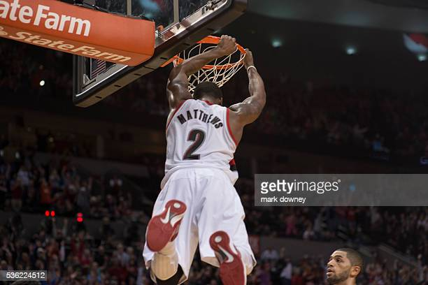 Wesley Matthews GuardForward dunks on the Orlando Magic
