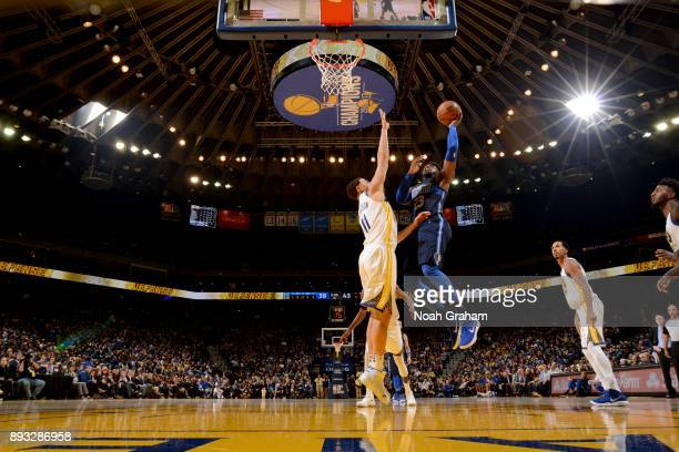 Wesley Matthews of the Dallas Mavericks shoots the ball against the Golden State Warriors on December 14 2017 at ORACLE Arena in Oakland California...