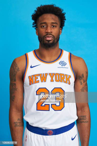 Wesley Matthews of the New York Knicks poses a head shot on February 4 2019 at the MSG Training Facility in Tarrytown New York NOTE TO USER User...