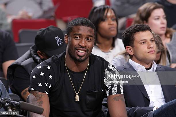 Wesley Matthews of the Portland Trail Blazers attends the Nike Hoop Summit on April 12 2014 at the Moda Center Arena in Portland Oregon NOTE TO USER...