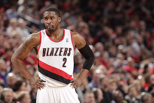 Wesley Matthews Of The Portland Trail Blazers Vs. Rockets Wall Art