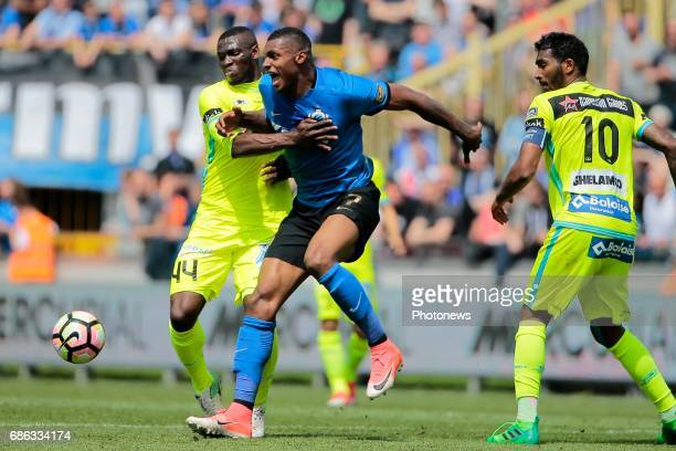 Wesley Moraes Ferreira Da Silva forward of Club Brugge and Anderson Esiti midfielder of KAA Gent during the Jupiler Pro League play off 1 match...