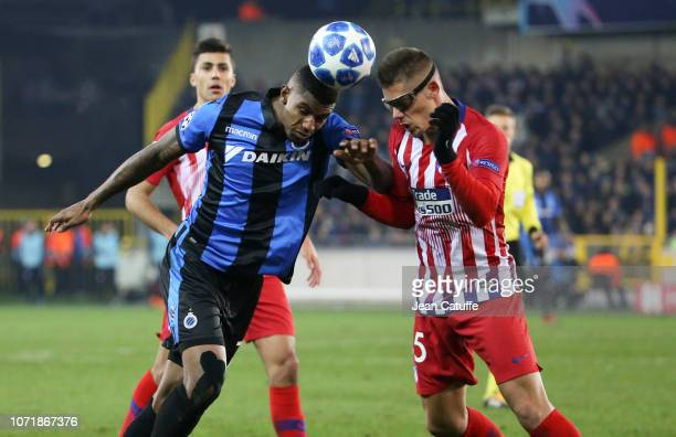 Wesley Moraes of Club Brugge Francisco Montero of Atletico Madrid during the UEFA Champions League Group A match between Club Brugge KV and Club...