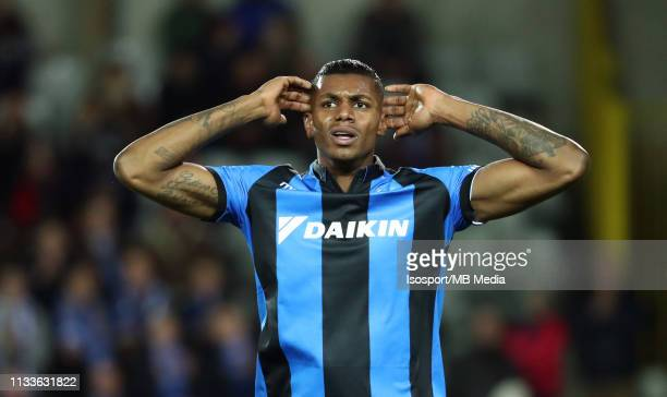 Wesley Moraes of Club Brugge looks dejected during the Jupiler Pro League match between Club Brugge and Sint-Truidense V.V. At Jan Breydel Stadium on...