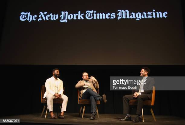 Wesley Morris AO Scott and Jake Silverstein at The New York Times Magazine Celebrates The Great Performers Issue 2017 on December 7 2017 in Los...