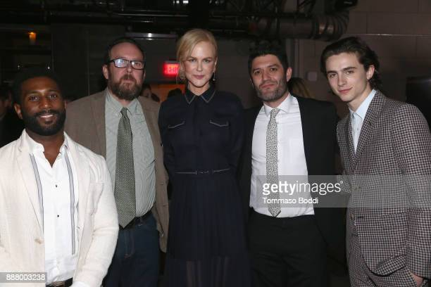 Wesley Morris AO Scott Nicole Kidman Jake Silverstein and Timothee Chalamet at The New York Times Magazine Celebrates 'The Great Performers Issue'...