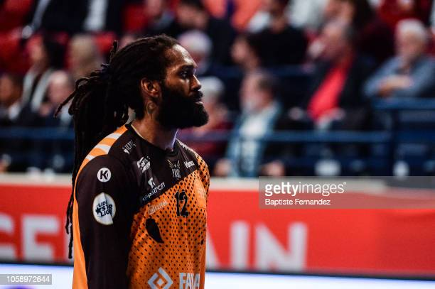 Wesley Pardin of Pays d'Aix Universite during the Lidl Starligue match between Paris Saint Germain and Pays d'Aix Universite Club at Stade Pierre de...