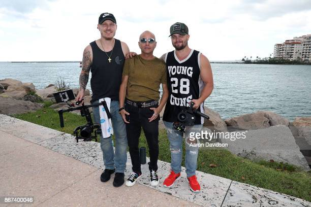 Wesley Quinn Jimmy D Robinson and Dre Kahmeyer attend Pop Sensation JoAnna Michelle rocks Miami Beach Wynwood with Blaze the Dance Floor Music Video...