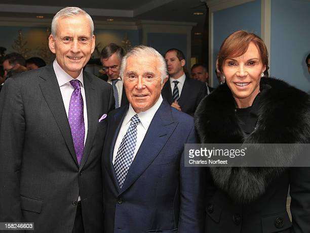 Wesley R Card CEO of The Jones Group Honoree Sidney Kimmel Founder and former CEO of The Jones Group and his wife Caroline Davis attend the 4th...
