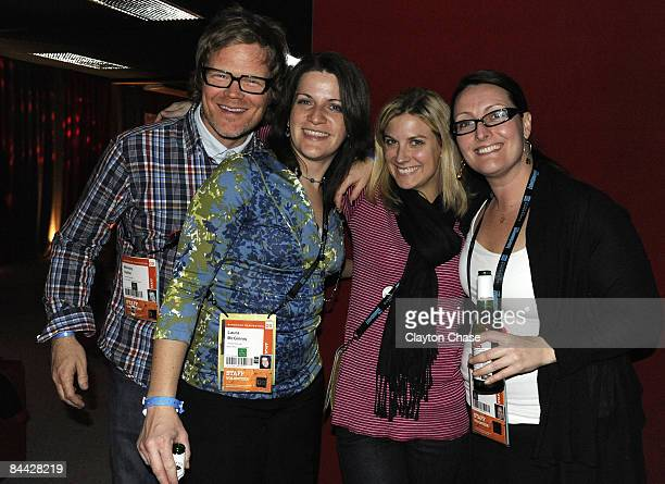 Wesley Salter Laura McGinnis Amy McGee and Stacey Kerans attend the Native Forum Party during the 2009 Sundance Film Festival at the New Frontier on...