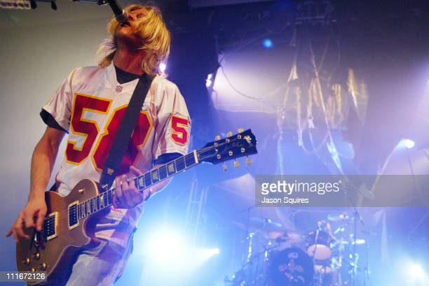 Wesley Scantlin of Puddle of Mudd during Puddle of Mudd performs live in Kansas City on December 10, 2003 at Memorial Hall in Kansas City, Kansas,...