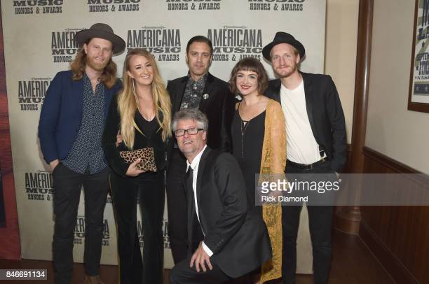 Wesley Schultz Margo Price Americana Music Association Executive Director Jed Hilly Jeremy Ivey Jeremiah Caleb Fraites and Neyla Pekarek attend the...