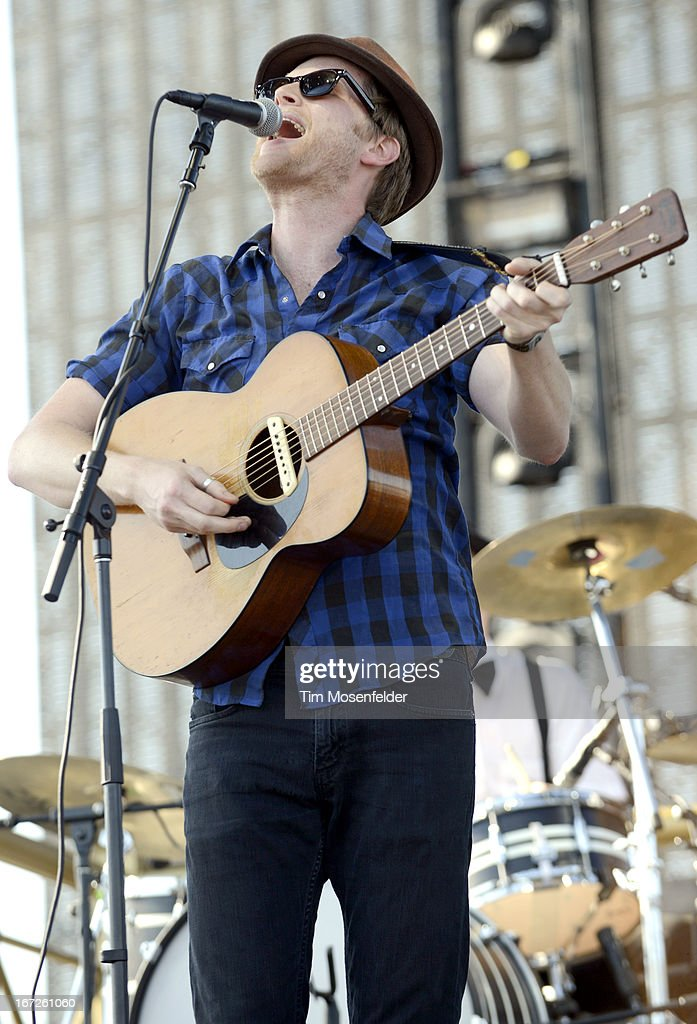 Wesley Schultz of The Lumineers performs as part of the 2013 Coachella Valley Music & Arts Festival at the Empire Polo Field on April 21, 2013 in Indio, California.