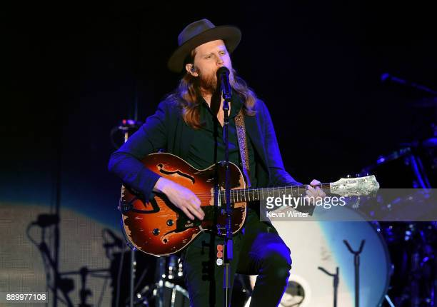 Wesley Schultz of The Lumineers performs onstage during KROQ Almost Acoustic Christmas 2017 at The Forum on December 10 2017 in Inglewood California