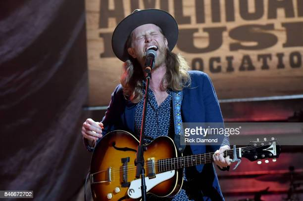 Wesley Schultz of the Lumineers performs onstage during the 2017 Americana Music Association Honors Awards on September 13 2017 in Nashville Tennessee