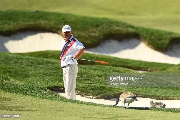 Wesley Short Jr waits to hit his second shot on the seventh hole during the first round of the Senior PGA Championship presented by KitchenAid at the...