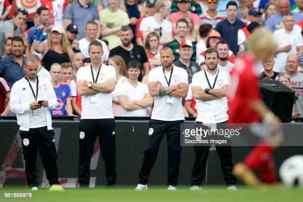 Wesley Sneijder Andre Ooijer John Heitinga Rafael van der Vaart during the Dirk Kuyt Testimonial at the Feyenoord Stadium on May 27 2018 in Rotterdam...