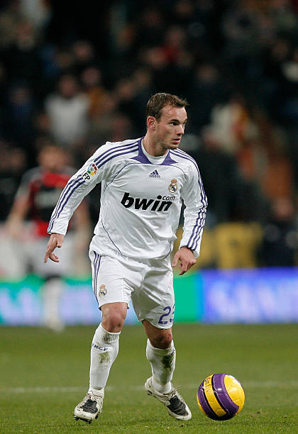 3753aea14ad Wesley Sneijder of Real Madrid controls the ball during the La Liga match  between Real Madrid