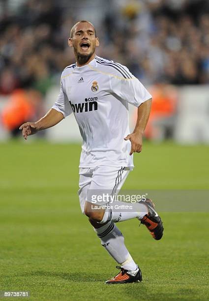 Wesley Sneijder of Real Madrid during the Pre Season Friendly between Shamrock Rovers and Real Madrid at Tallaght Stadium on July 20 2009 in Dublin...