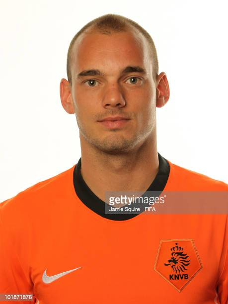 Wesley Sneijder of The Netherlands poses during the official FIFA World Cup 2010 portrait session on June 7, 2010 in Johannesburg, South Africa.